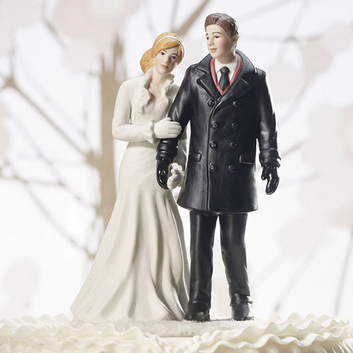 Winter Wonderland Wedding Couple