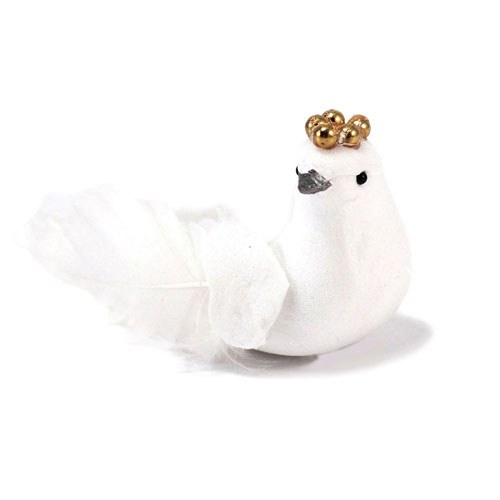 Miniature Bride And Groom Wedding Dove