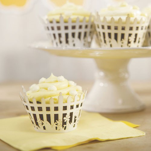 Picket Fence Filigree Paper Laser Cupcake Wrappers