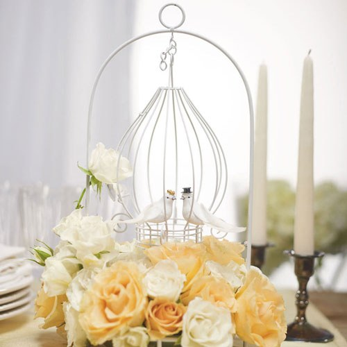 Ornamental Wire Centerpiece With Suspended Wire Tear Drop