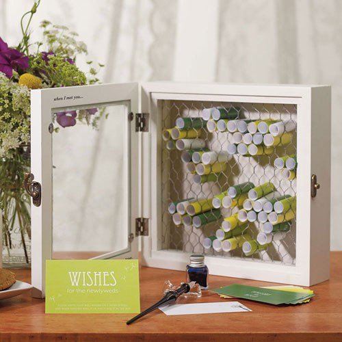 Country Charm Wooden Wish Box