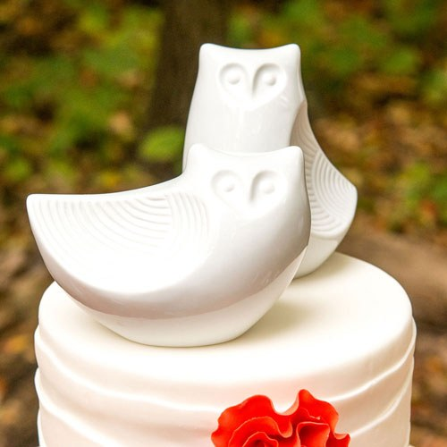 Porcelain Owl Pair