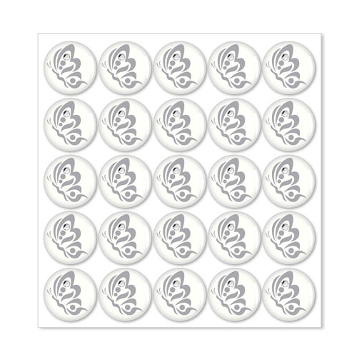 Monogram Sticker with Rhinestone