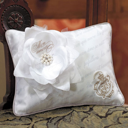 Parisian Love Letter Blossom Fabric Pillow