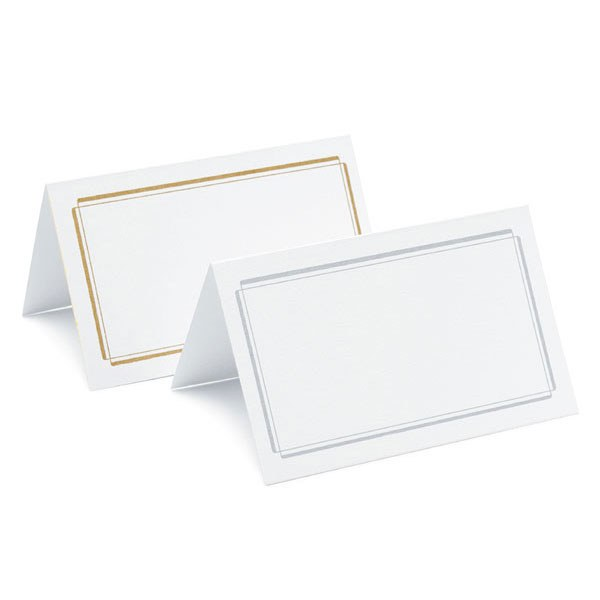 Plain Double Border wedding place Cards