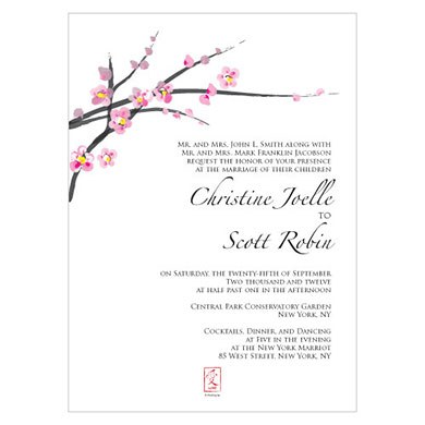 cherry blossom invitation the knot shop