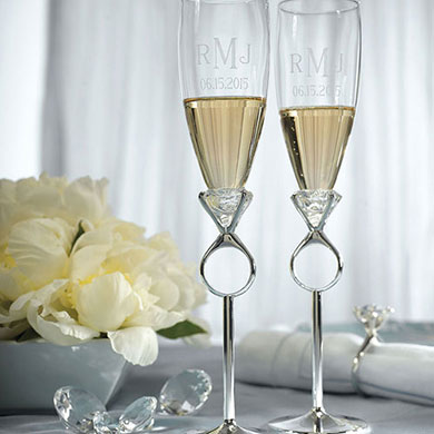 Wedding Or Engagement Champagne Glasses The Knot Shop