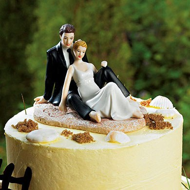 beach wedding cake toppers canada wedding lounging on the figurine 11194