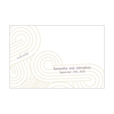 Rock Solid Place Cards  double sided print