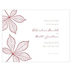 Autumn Leaf Save The Date Card