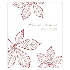 Autumn Leaf Rectangular Label