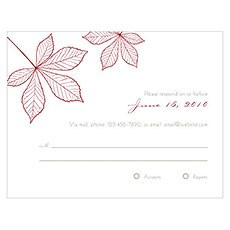Autumn Leaf RSVP