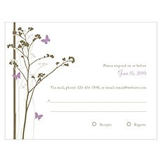 Romantic Butterfly RSVP