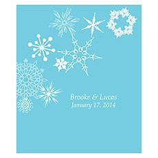 Winter Finery Rectangular Label