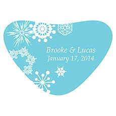 Winter Finery Heart Container Sticker
