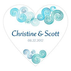 Sea Breeze Heart Sticker