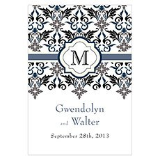 Lavish Monogram Large Rectangular Tag