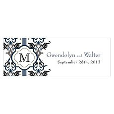 Lavish Monogram Small Rectangular Tag