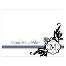 Lavish Monogram Note Card