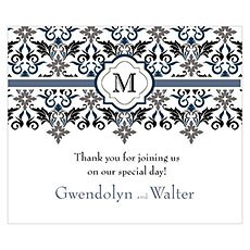 Lavish Monogram Rectangular Label