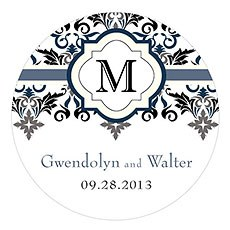 Lavish Monogram Large Sticker