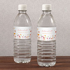 Hearts Water Bottle Label