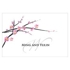 Cherry Blossom Large Rectangular Tag