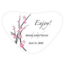 Cherry Blossom Heart Container Sticker