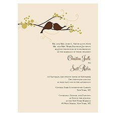 Love Bird Invitation