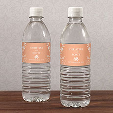 Forget Me Not Water Bottle Label