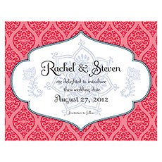 Moroccan Save The Date Card