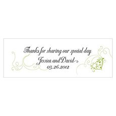 Heart Filigree Small Rectangular Tag