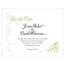 Heart Filigree Save The Date Card