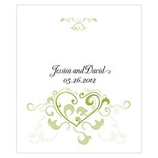 Heart Filigree Rectangular Label