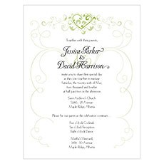 Heart Filigree Invitation