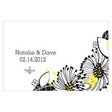 Floral Fusion Large Rectangular Tag