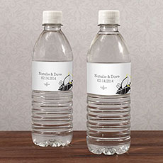 Floral Fusion Water Bottle Label