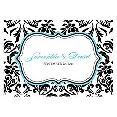 Love Bird Damask Large Rectangular Tag
