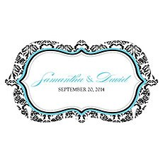 Love Bird Damask Small Cling