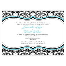 Love Bird Damask Invitation