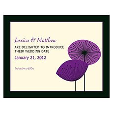 Romantic Elegance Save The Date Card