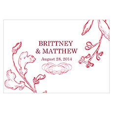 French Whimsy Large Rectangular Tag