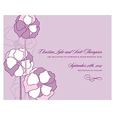 Pinwheel Poppy Save The Date Card