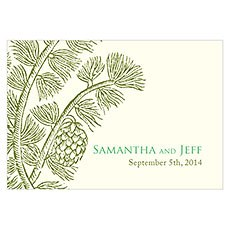 Evergreen Large Rectangular Tag