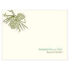 Evergreen Note Card