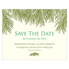 Evergreen Save The Date Card