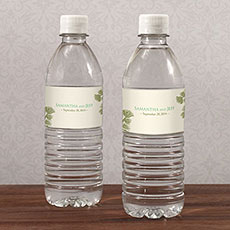 Evergreen Water Bottle Label