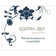 Floral Orchestra Rectangular Label