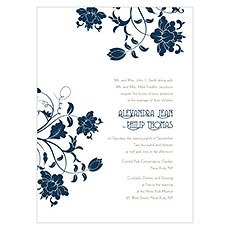 Floral Orchestra Invitation