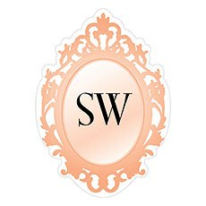 Monogram Mirror Frame Sticker